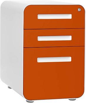Stockpile 3-Drawer Mobile File Cabinet, Commercial