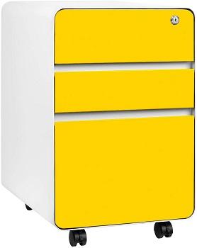 Stockpile Flat 3-Drawer Mobile File Cabinet