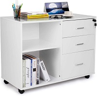 TUSY 3-Drawer File Cabinet with Lock picks