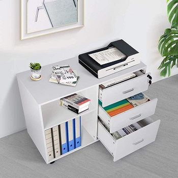 TUSY 3-Drawer File Cabinet with Lock