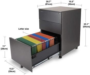 BEST 3-DRAWER  Aurora Grey File Cabinet