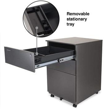 BEST 3-DRAWER  Grey File Cabinet