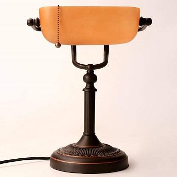 BEST AMBER ANTIQUE Banker's Lamp