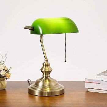 BEST BANKER ART DECO Cages Banker's Desk Lamp