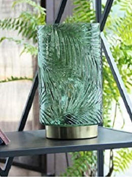 BEST BATTERY-OPERATED GREEN GLASS SHADE MJ Premier Battery-Operated Desk Lamp