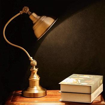 BEST BRASS VINTAGE Melunar Desk Reading Lamp