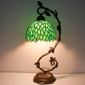 BEST FOR READING GREEN GLASS SHADE Werfactory Green Visteria Desk Lamp