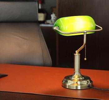 BEST GREEN ANTIQUE Banker's Lamp