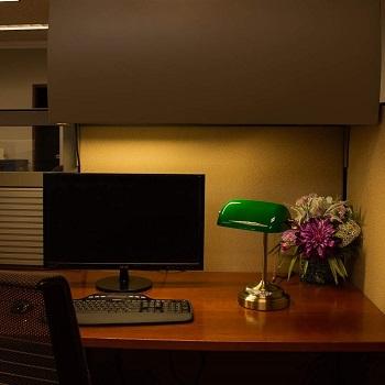 BEST LED ANTIQUE Banker's Lamp