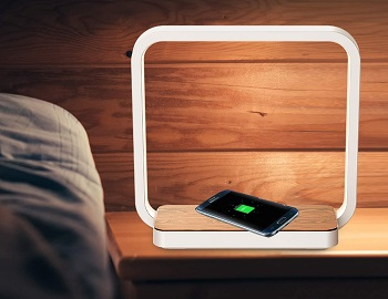 BEST LED WIRELESS CHARGING NIGHTSTAND LAMP
