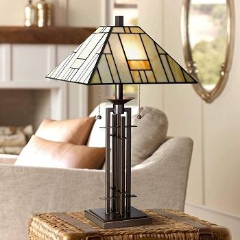 BEST OF BEST ART DECO Franklin Iron Tiffany Desk Lamp