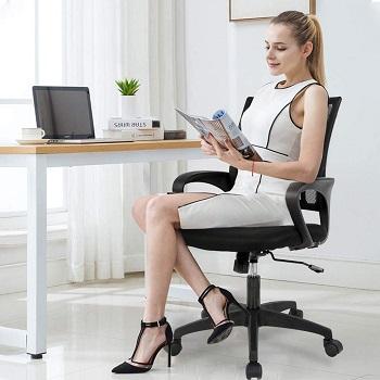 BEST OF BEST Black Office V03 Adjustable Swivel Chair