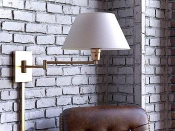 BEST SWING ARM WALL-MOUNTED Kenroy Home Bedroom Reading Lamp