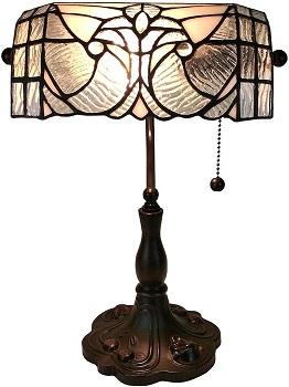 BEST TIFFANY ANTIQUE Amora Lighting Banker's Lamp