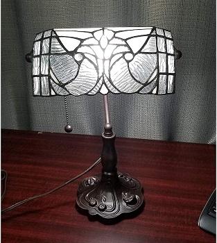 BEST TIFFANY ANTIQUE Banker's Lamp