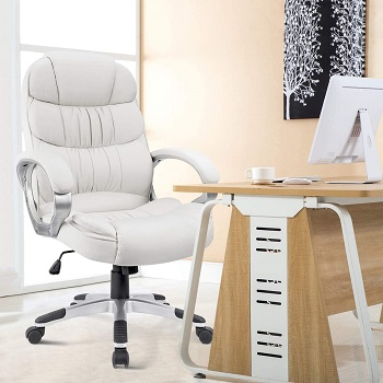 BEST WITH ARMRESTS ALL WHITE DESK CHAIR