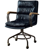 BEST WITH ARMRESTS VINTAGE LEATHER DESK CHAIR Summary