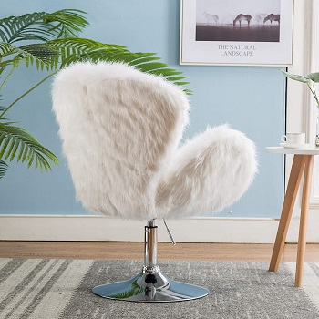 BEST WITHOUT WHEELS ALL WHITE DESK CHAIR