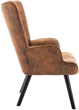 BEST WITHOUT WHEELS VINTAGE LEATHER DESK CHAIR