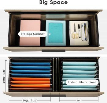 BEST WOOD Grey File Cabinet