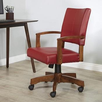 Best On Wheels Antique Wooden Desk Chair