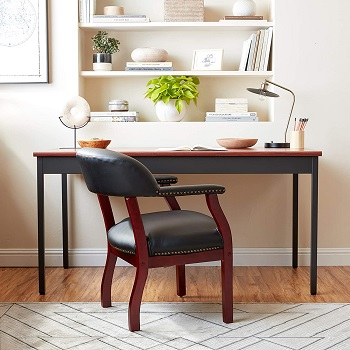 Best Without Wheels Vintage Wooden Office Chair