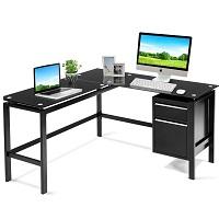 Black L Shaped Computer Office picks
