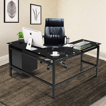 Black L Shaped Computer Office review