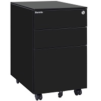 Bonnlo Mobile File Cabinet with picks