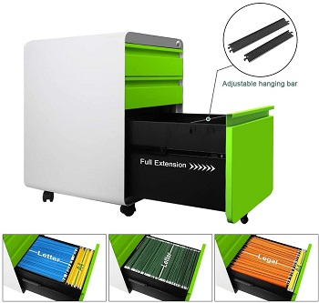 Dprodo 3 Drawers Mobile