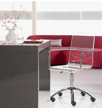 ES Acrylic Office Chair With Wheels Review