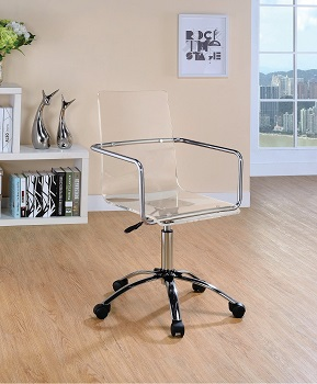 ES Acrylic Office Chair With Wheels