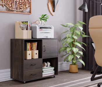 HOMECHO File Cabinet Mobile Lateral