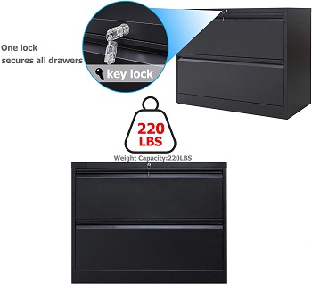 Lateral File Cabinet with Lock