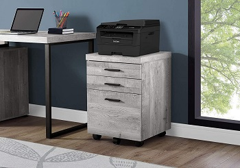 Monarch Specialties 3 Drawer File