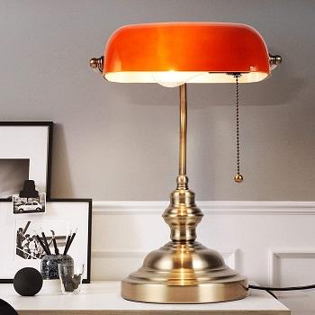 Newrays Amber Bankers Lamp