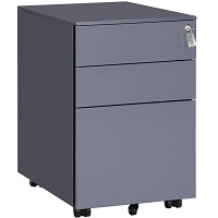 SONGMICS Mobile File Cabinet with 3 picks