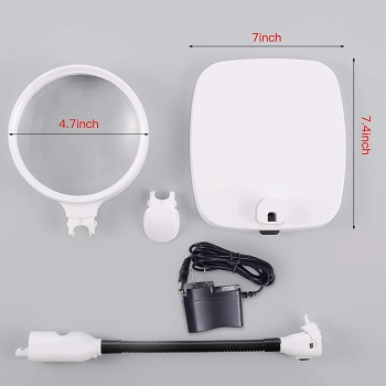 Tm-Home 10x Magnifying Lamp