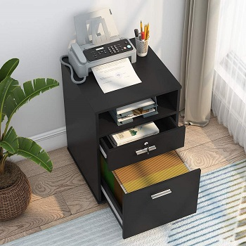Tribesigns 2-drawer Mobile File Cabinet