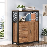 Tribesigns 3 Drawers File Cabinet with picks