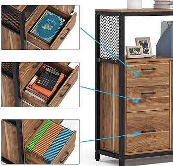 Tribesigns 3 Drawers File Cabinet with review