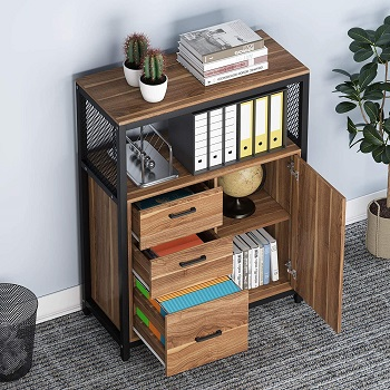 Tribesigns 3 Drawers File Cabinet with