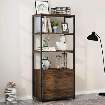 Tribesigns Bookcase with review