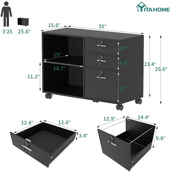YITAHOME Wood File Cabinet review