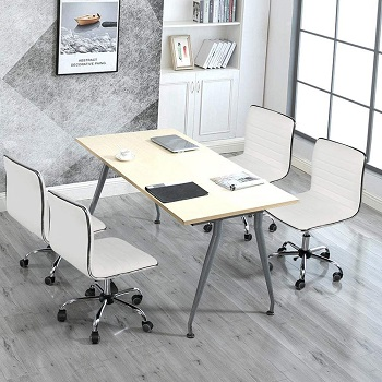 Yaheetech Adjustable Leather Chair