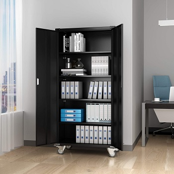 Aobabo  Storage Cabinet With Wheels