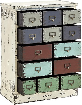 BEST 13-DRAWER DISTRESSED FILING CABINET