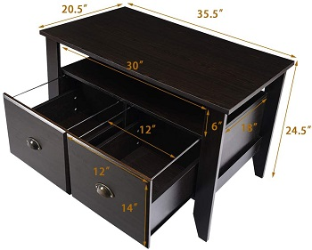 BEST 2-DRAWER CONSOLE FILE CABINET