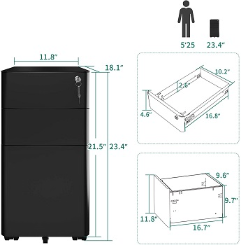BEST 3-DRAWER COMPACT FILING CABINET