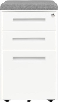 BEST 3-DRAWER CUSHION TOP FILE CABINET